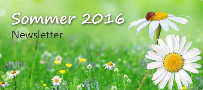 Sommer Newsletter 2016