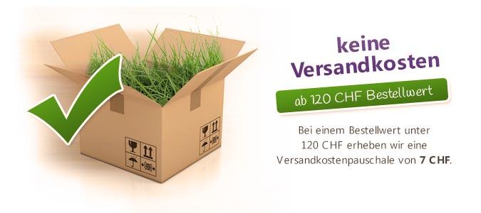 Versandkostenfreie Lieferung ab 120 CHF