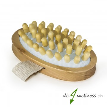 NAJEL Anti-Cellulitebürste aus Holz