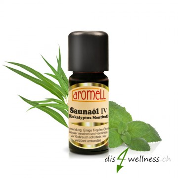 "Aromell Saunaöl IV ""Eukalyptus-Menthol"" ätherische Öle (10 ml)"