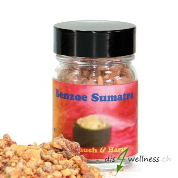 Benzoe Sumatra - Räucherharz von Aromell im Glas, 35g