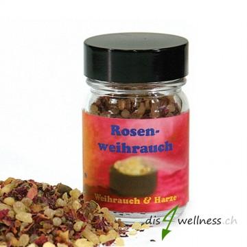 Rosenweihrauch - Räuchermischung von Aromell im Glas, 35g