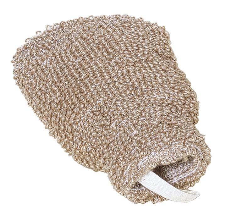Massagehandschuh aus Flachs von Redecker