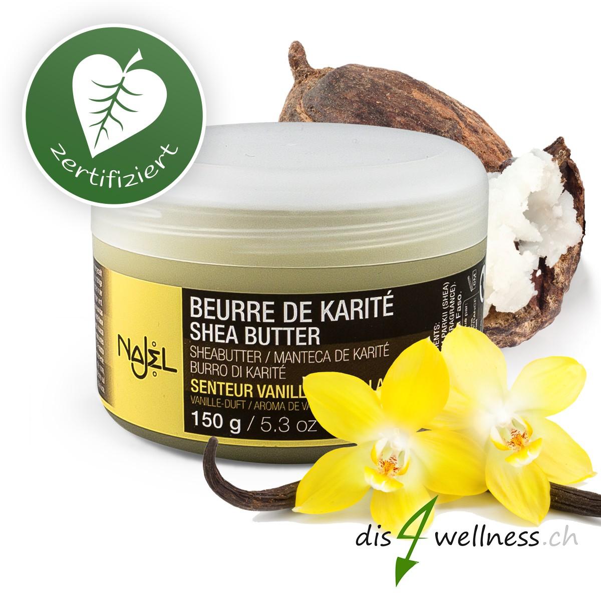 Najel - Shea Butter Vanille, zertifiziert