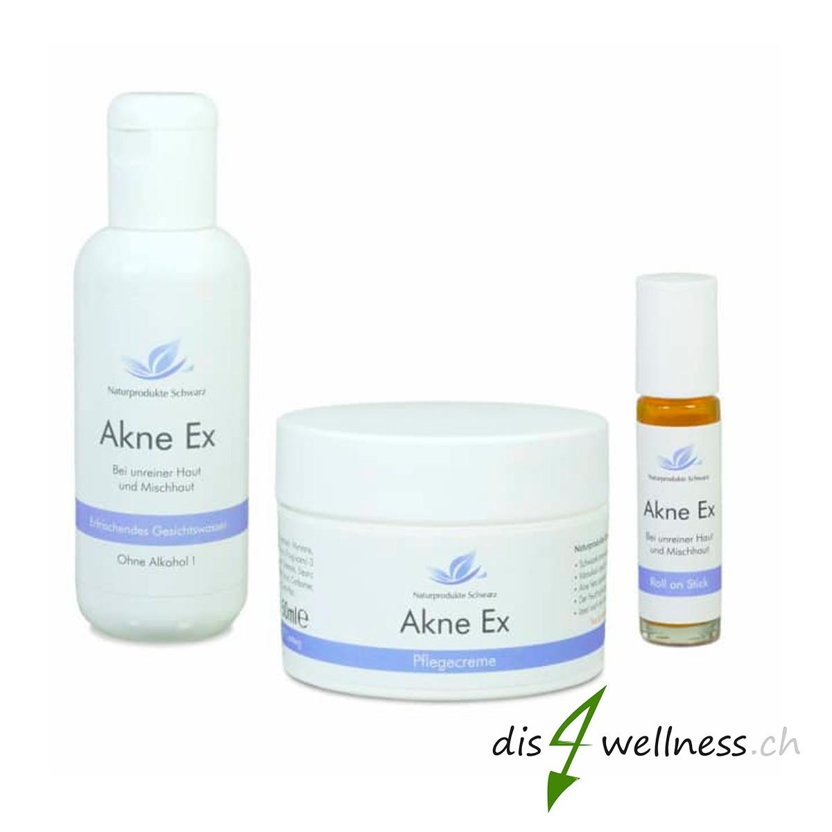 Akne Ex Hautpflegeset bei Pickel und gegen unreine Haut