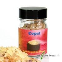 Copal Oro - Räucherharz von Aromell im Glas, 35g