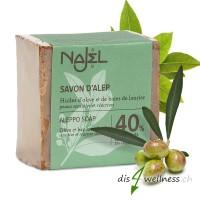 Aleppo-Seife von NAJEL mit 40% Lorbeeröl, 185 g