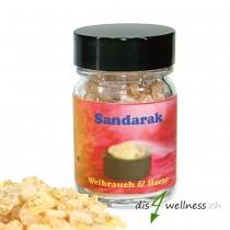 Sandarak - Räucherharz von Aromell im Glas, 35g
