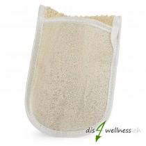 Luffa Peeling und Massage Handschuh