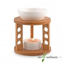 "Pajoma - Duftlampe ""Bamboo"" aus Keramik und Bambus"