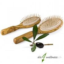Haarbürsten-Set aus Olivenholz