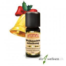 Aromell Weihnachten ätherische Ölmischung mit Blutorange, Cassia, Rosenholz, Nelke, Rosmarin.