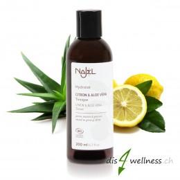 Hydrolat mit Zitrone und Aloe Vera von NAJEL bei unreiner Haut, 200ml